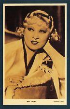 Nostalgia Postcard American actress, singer, Mae West 1892-1980 Repro Card NS30