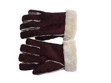 Mesdames Gants Hiver Faux-fur chaud marron. peau de mouton style gants medium femme.