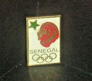 1960's SENEGAL MEXICO CITY NOC OLYMPIC BADGE PIN 1968
