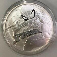 2017 ~ 1~OZ .999 SILVER ~ SPIDERMAN ~ MARVEL COMIC SERIES ~ TUVALU ~ GEM ~ $9.99