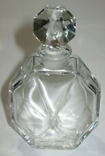 """Vintage Ciro Reflections Baccarat Glass Perfume Bottle - Empty - 4"""" Height"""