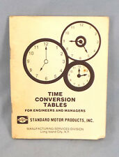Time Conversion Tables Booklet Industrial Engineers Manages Manual Production