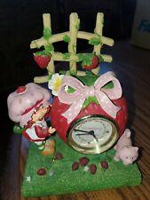 Vintage 2002 Strawberry Shortcake Clock