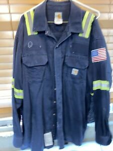 Carhartt FR reflective navy shirt 2x LN