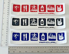 RIP CURL STICKERS SET OF 3  ALL ONE FOR PRICE $15 WAKEBOARDING 90's THE SEARCH