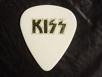 KISS Band Logo & Gene Simmons Signature Older Concert Tour GUITAR PICK Late 80's