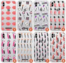 Lindo patrón de maquillaje caso de impacto delgado para iPhone | Diseñador de Moda Lindo Niñas T