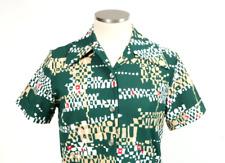 Vtg 70s Hawaiian Shirt Short Sleeve Button Down Polo Retro Mid Century Mens S