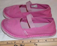 Crocs Kids 16224 Size C11 Cabo Mary Jane Sneaker Little Girls  Pink Canvas