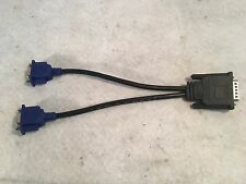 DMS-59 to Dual VGA Adapter Y Splitter Cable Video Dongle