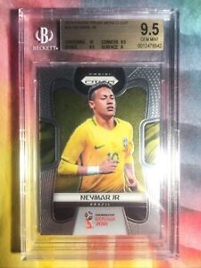 Panini Prizm World Cup 2018 Neymar Jr. #25 BGS 9.5 Gem Mint