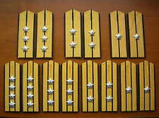 87's series China PLA Navy Officer Hard Shoulder Boards,7 Pair,Set.