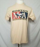 VTG Boston Massachusetts T-Shirt Mens Medium Whale Single Stitch Tee 90s