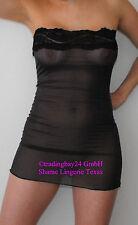 Abito vestito tubo nero OS camicia DRESS PARTY VESTITO TRASPARENTE LUCIDO UNISEX
