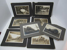 RARE Lot - 8 Photos - Railroad Train Disaster - Dead People Rochester NY 1911