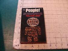 UNREAD High Grade Paperback: PEOPLE William Vogt 1961, 1st 208pgs