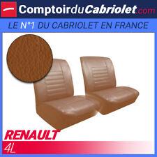 Garnitures sièges avant pour Renault 4L en simili cuir havane