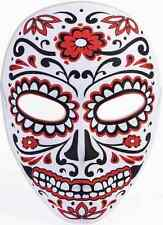 Day of the Dead Mask Red Black Dia de los Muertos Halloween Costume Accessory