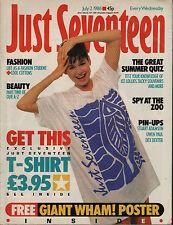 Just Seventeen Magazine 2 July 1986   Stuart Adamson   Owen Paul