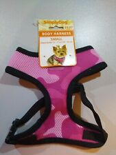 Simply Dog Mesh T Strap Body Harness Small Pink Camo New With Tags