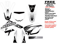 DFR BLEND GRAPHIC KIT WHITE 06-08 KAWASAKI KX450F KX 450F KXF450