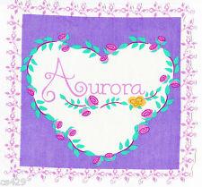 "8"" DISNEY PRINCESS AURORA  NAME CHARACTER FABRIC APPLIQUE IRON ON"
