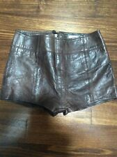 Abercrombie And Fitch Soft 100% Genuine Leather Shorts Size 6 Altered