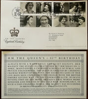 H M The Queen's Eightieth Birthday Royal Mail First Day Cover + Insert 2006