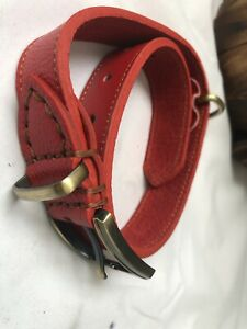 Dog Lead Pet Puppy Dog Head Collars Adjustable Neck Durable copper Buckle Red