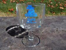 Vintage SCHLITZ LIGHT Beer Glass Goblet Stemmed On Pedestal Thumbprint Dimpled