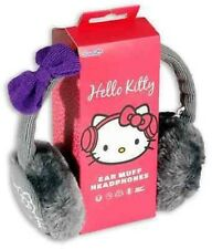 Hello Kitty Stereo Headphone Headset with Ear Protectors - Grey NEW