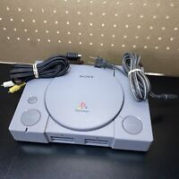 Sony PlayStation Original PS1 Console W/ AV Cords + Power Cord -PARTS OR REPAIR!