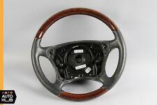 00-06 Mercedes W220 S600 CL600 Driver Steering Wheel Black Leather Wood OEM