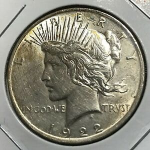 1922 PEACE SILVER DOLLAR HIGHER GRADE COIN