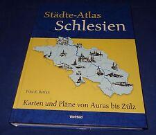 Fritz R. Barran - Städte-Atlas Schlesien Karten und Pläne von Auras bis Zülz