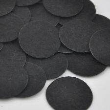 100pcs Felt 30mm Circle Appliques - Black Free Shipping