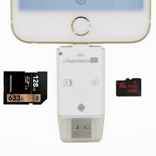 3 in 1 TF SD Card Reader Adapter fit iPhone/ipad/ MAC/ PC/ Android Device USA