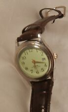 100 FT Water Resistant Watch with Calendar Date , Second Hand Works Well ~UNISEX