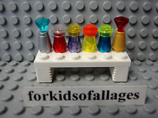 Lego Bottles on Table/Shelf: Potions Perfume Food Jars - Friends City Modular