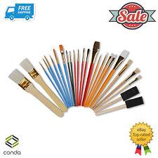 25 Pcs Oil & Acrylic Paint Long Handle Brush Set Conda Chip Foam Sponge Brush PK