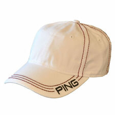 PING Contrast Stitch Twill Golf Cap Hat  NWT White