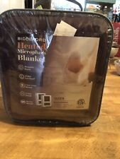 NEW Biddeford MICRO PLUSH Queen Size Burgundy Electric Heated Blanket 2 Controls
