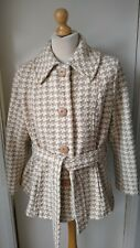M&S Marks and Spencer Tweed Boucle Coat Jacket Ladies Womens Size 22 Wool Mix