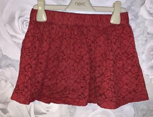 Girls Age 6-7 Years - Gap Red Skirt