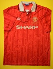 4.8/5 MANCHESTER UNITED 1992~1993 FOOTBALL JERSEY SHIRT UMBRO PLAYER ISSUE