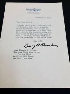 Dwight D. Eisenhower Signed Letter as President of COLUMBIA UNIVERSITY Xmas 1949