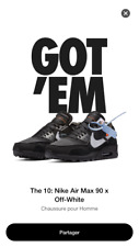 THE NIKE AIR MAX 90 X OFF-WHITE US 8.5  UK 7.5 EU 42 LIMITED SNEAKERS