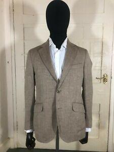 Stunning Hackett Wool & Linen Herringbone Tweed Jacket BNWT RRP £550