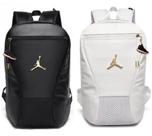 Jordan Backpack Student School Bag Large Capacity Waterproof Travel Bag Black