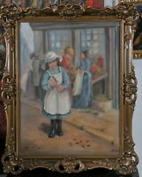 Paul Fischer (Danish, 1860-1934): Little girl on the street
